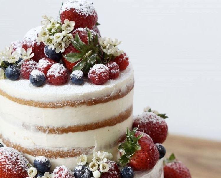 «Деревенский» свадебный торт