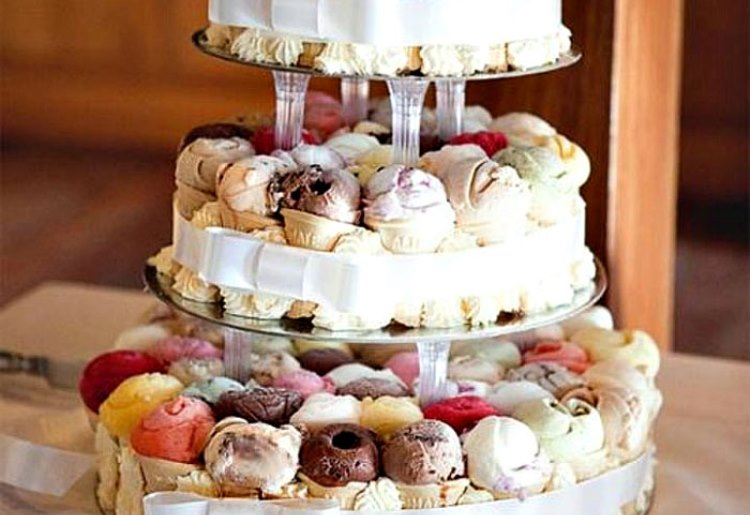 Свадебный торт-мороженое