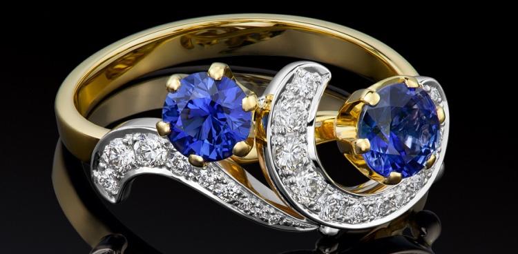 Ювелирные украшения из любимого металла с драгоценными камнями