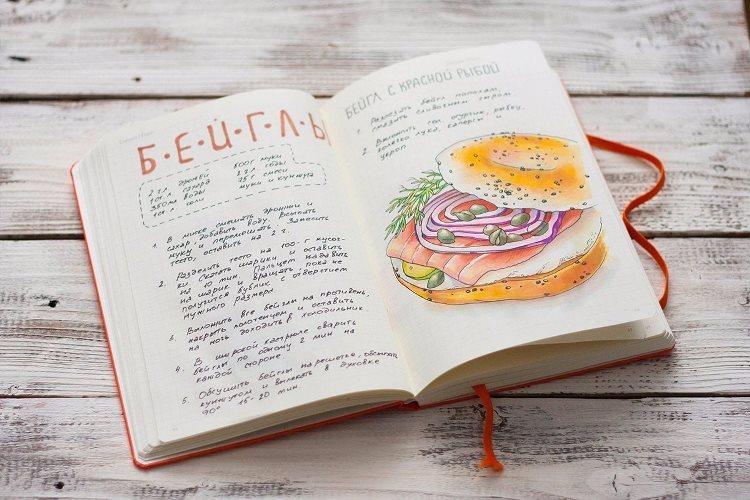 Книга рецептов в оригинальном исполнении.