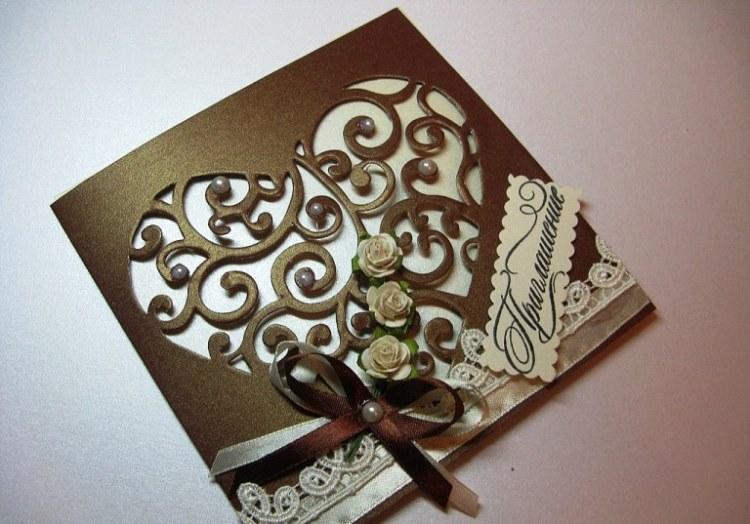 Сирени, шоколадные свадебные открытки